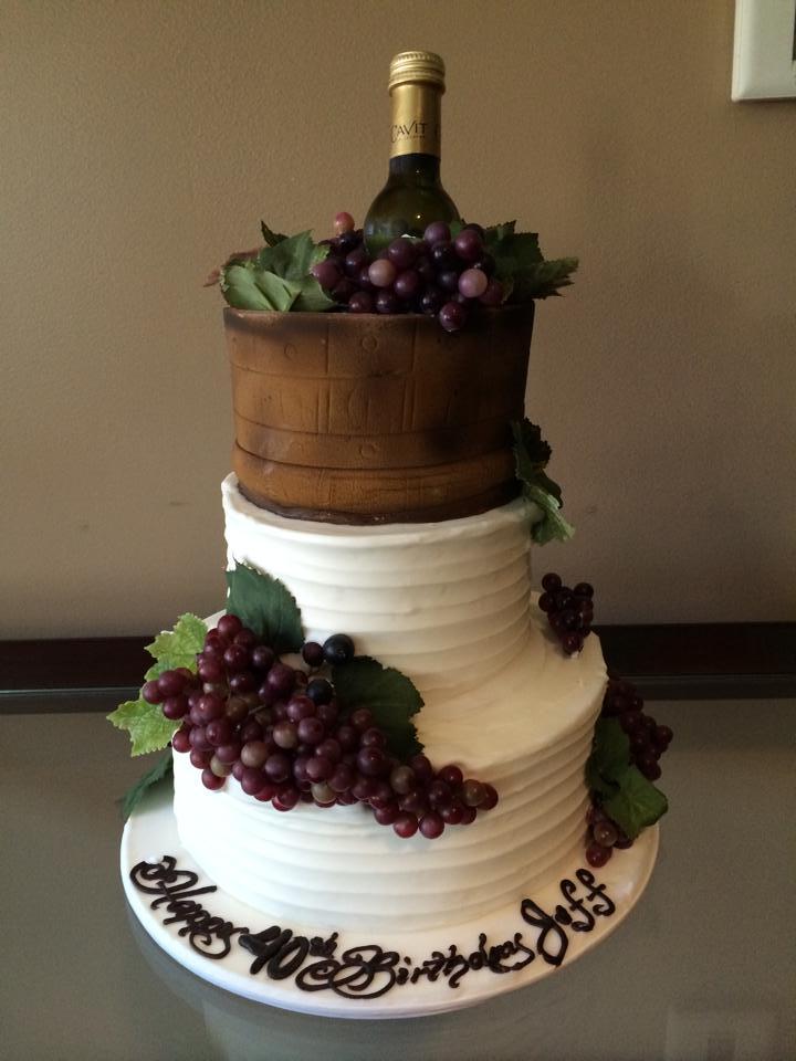 Wine Birthday Cake My blog