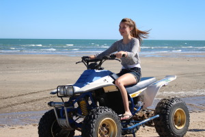 Even the Awesome Daughter enjoyed the quad!